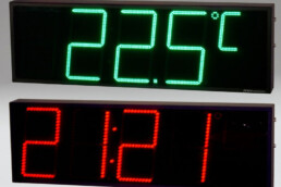 Central Time, Date and Temperature Display